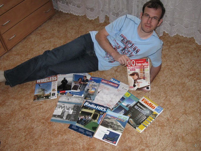 OK4BX and his magazine collection